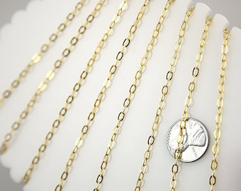 4mm Tiny n' Perfect Gold Brass Chain - 10 feet / 3 meters