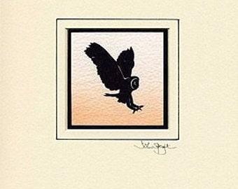 Owl Hand-Cut Papercut