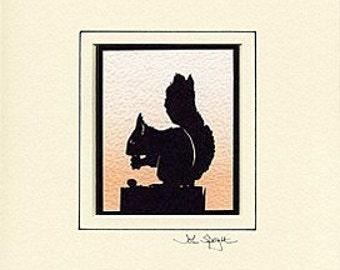 Squirrel Hand-Cut Papercut