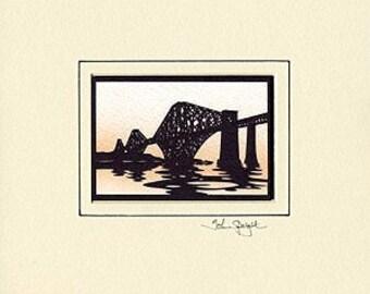 Forth Bridge (Edinburgh UK) Hand-Cut Papercut