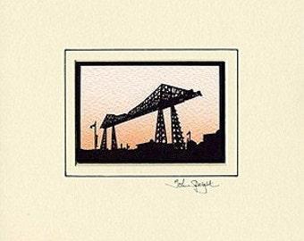 Transporter Bridge (Middlesbrough UK) Hand-Cut Papercut