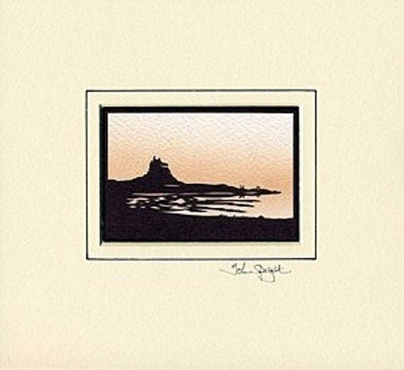 Holy Island (Lindisfarne in UK) Hand-Cut Papercut