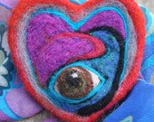 A Big Lusty Brown Evil Eye- Fantastic Fiber Creation-OOAK