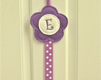 Posy Bow Holder in-the-hoop Machine Embroidery Design