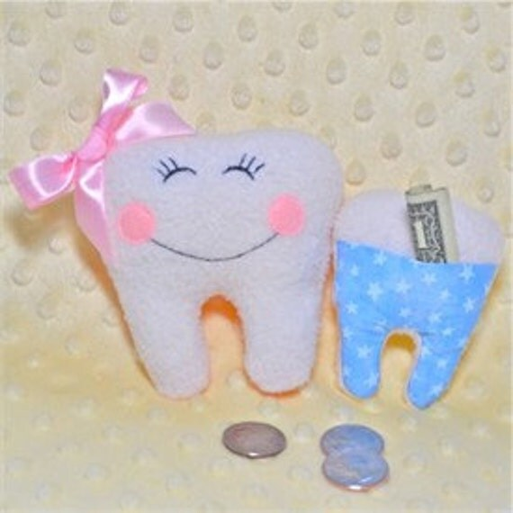 Items Similar To Tooth Fairy Pillows In The Hoop