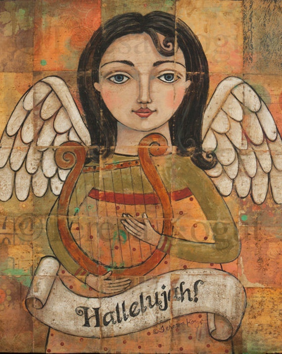 Wall Art | Wall Decor | Home | Angel | Hallelujah | 8x10 print | Teresa Kogut