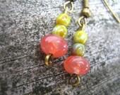 Pink Watermelon Dangle Earrings