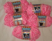 Bernat Velour yarn in the color Think Pink