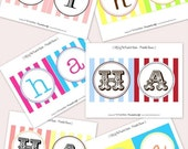 CUSTOM Happy Birthday Banner - Your Choice COLORS Fonts Text - The TomKat Studio