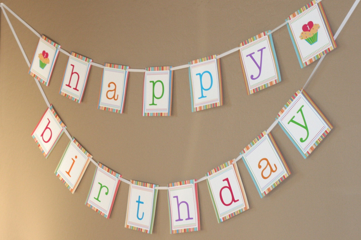 Lucrative image within printable happy birthday banners
