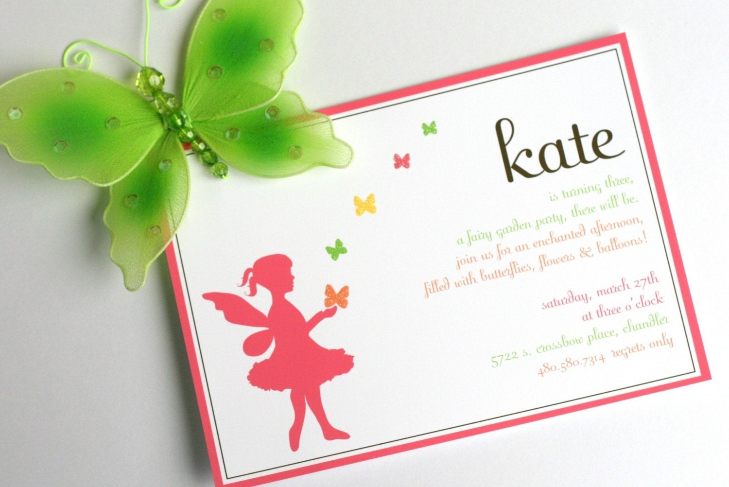 This is a picture of Delicate Fairy Birthday Invitations Free Printable