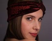 velvet turban headband-limited edition