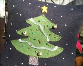 CHRISTMAS Wool Christmas Tree Pillow