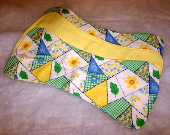 Yellow Patchwork Burp Cloth Trio