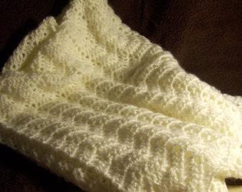 Off-White Baby Afghan/Blanket