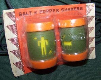 Vintage Saint Labre Indian School Salt and Pepper Shakers...Ashland Montana...NOS...NIB...Mid Century...Original Packaging...Souvenir