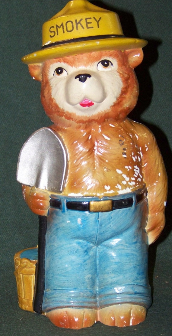 Vintage Ceramic Smokey the Bear Bank