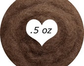 Dream Felt Premium Wool Batt Norwegian C1 Needle Felt  Dark Flesh Light Brown .5 oz.
