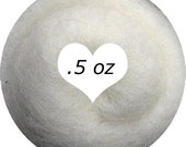 Dream Felt Premium Wool Batt Norwegian C1 Needle Felt White .5 oz.