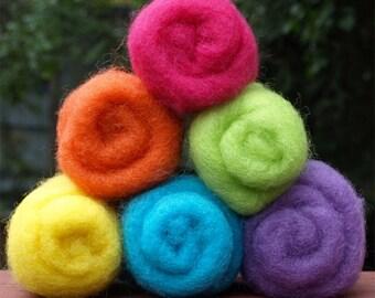Dream Felt Premium Wool Batting - Brights Collection