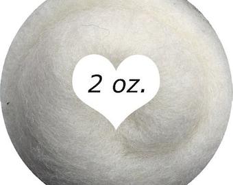 Dream Felt Premium Wool Batt Norwegian C1 Needle Felt White 2 oz.
