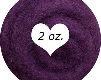 Dream Felt Premium Wool Batt Norwegian C1 Needle Felt Plum 2 oz.
