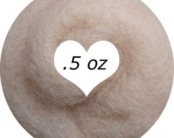Dream Felt Premium Wool Batt Norwegian C1 Needle Felt Light Flesh .5 oz.