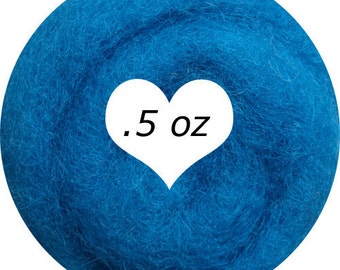 Dream Felt Premium Wool Batt Norwegian C1 Needle Felt Denim Blue .5 oz.