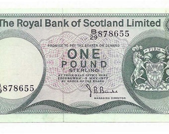 The Royal Bank of Scotland Limited 1 LB Banknote 1977 AU P336