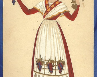France Unused Early Cultural Dress Postcards