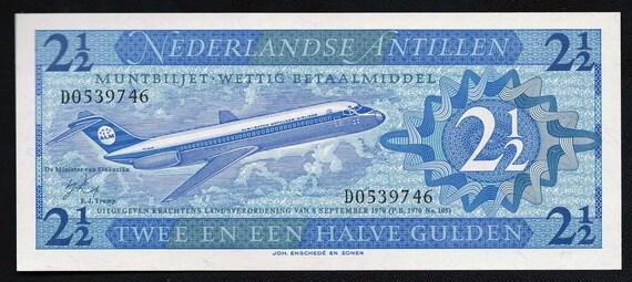 Netherlands Antilles, 2 1/2 Gulden, 1970, P 21, UNC