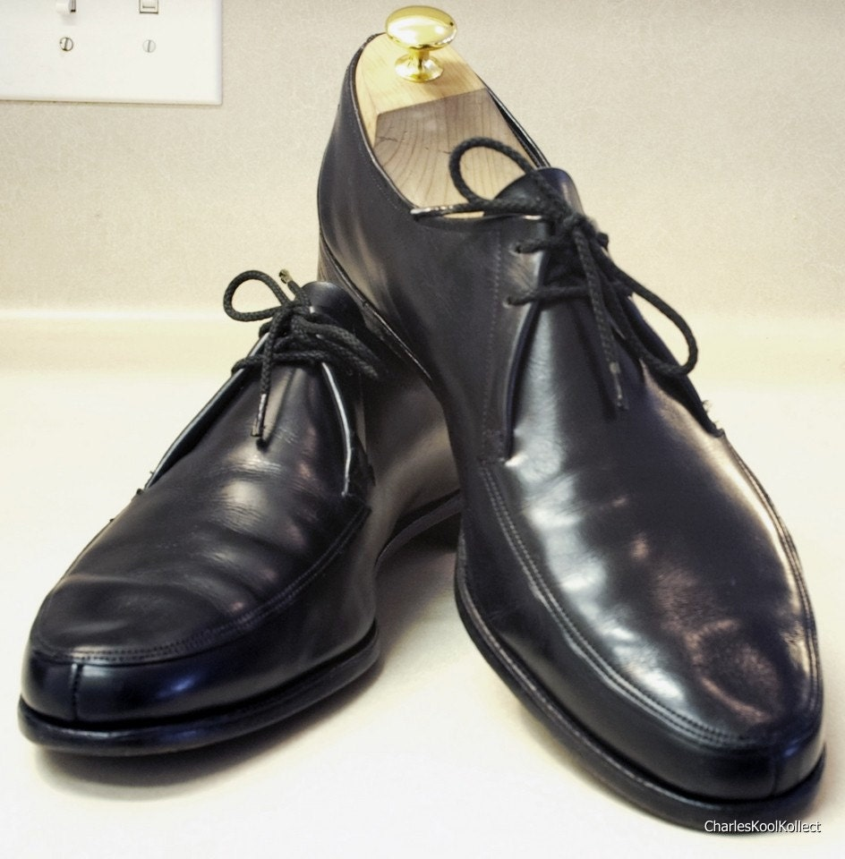vintage bally black leather dress shoes by charleskoolkollect