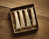 Lip Balm Tube Gift Set - Welcome to the Forest™ - Rosewood, Pine Cone, Poison Ivy, Clove - organic and natural flavors by For Strange Women