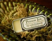 Poison Ivy™ - lip embellishment in tin - natural lip balm with beeswax, cocoa butter, forest-inspired natural flavor