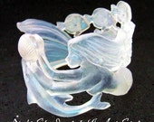 New Mermaid Sculpture Iridescent Clear Resin Bracelet 16