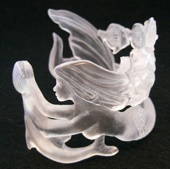 Dolphin and Mermaid Bracelet Clear Mermaid Jewelry mermaid jewellrey