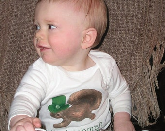 Funny St. Pattys Day Romper by Mumsy Goose Newborn Creepers to Kids Tees