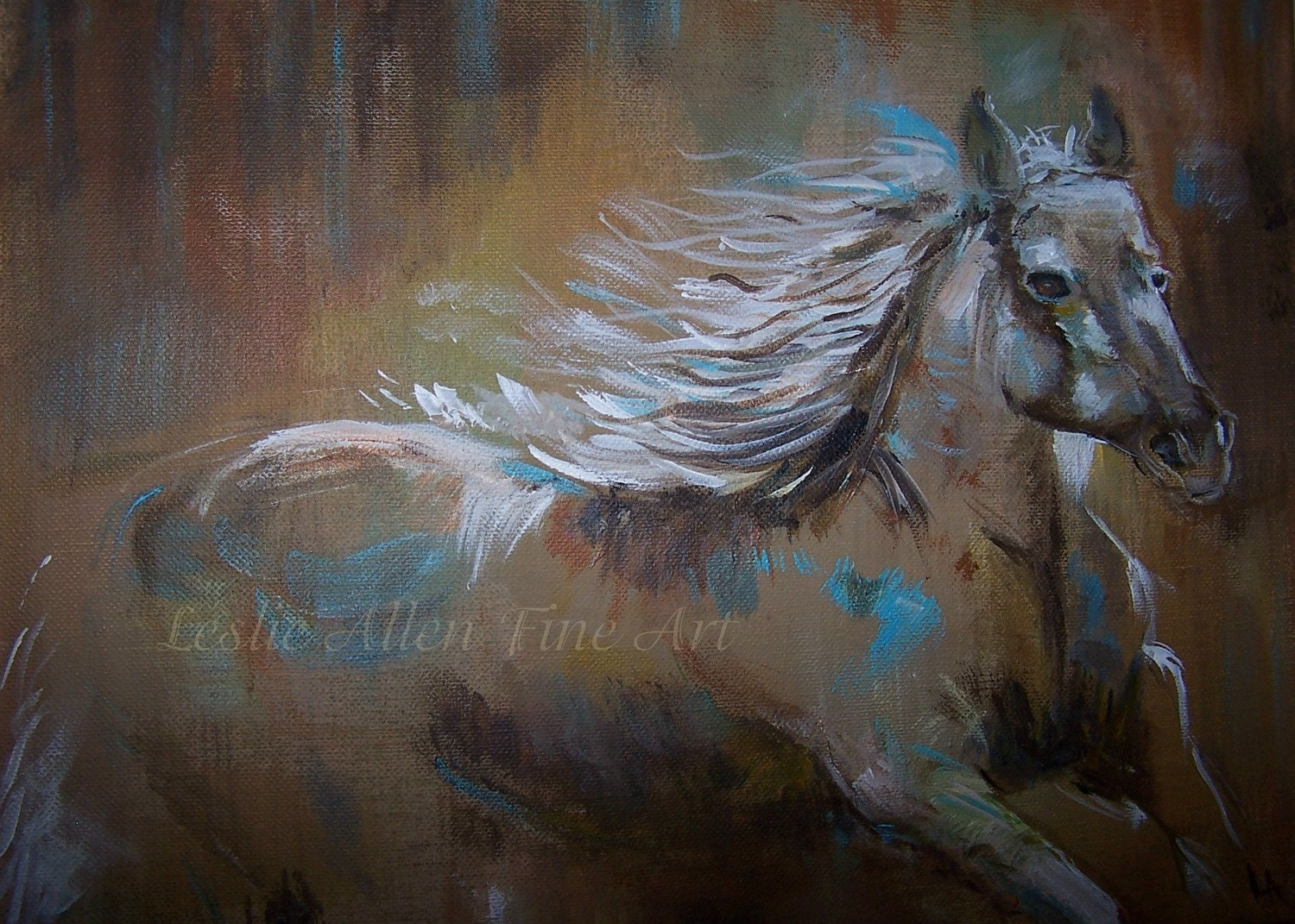 Abstract Horse Paintings Painting Horses