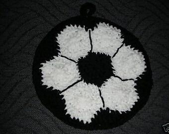Crocheted Soccer Ball Potholder