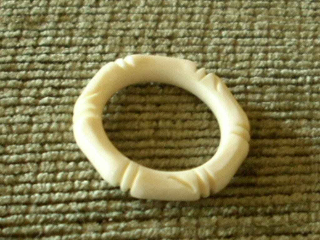 Vintage Elephant Tusk Ivory Ring