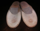 woman's  Or Man's Leather Slippers size 8-9