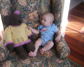 Adorable Cuddly Wool Teddy Bear