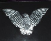 Eagle Iron On Sequin Applique