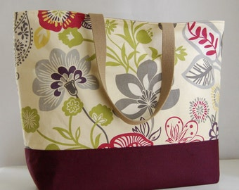 Razzle Orchid XL Extra Large Beach Bag / BIG Tote Bag - Ready to Ship