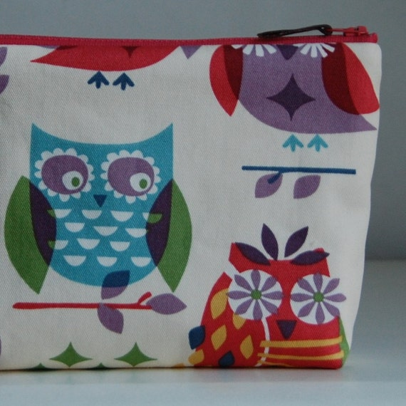 It's a Hoot Cosmetics Pouch - READY TO SHIP