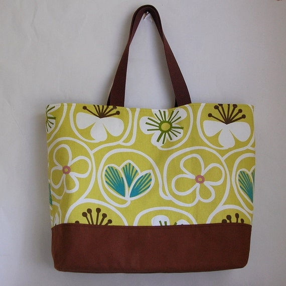 Groovy Citron BIG Tote - Ready to Ship