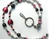 Hemitate Pink  Lanyard, Id Badge Holder, Id Necklace