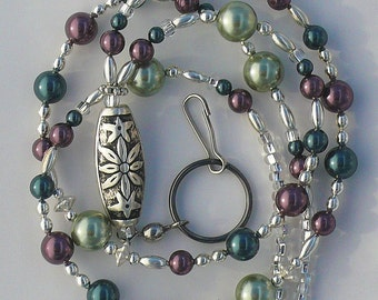 Beaded Lanyard, Id Badge Holder, Id Necklace