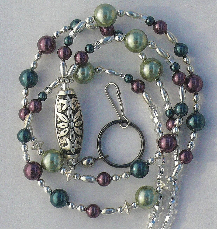 Beaded Lanyard Id Badge Holder Id Necklace