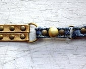 SALE- WOMENS'S FFS Repurposed Bracelet (Bronze) & Denim